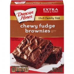 Mezcla Chewy fudge brownies...