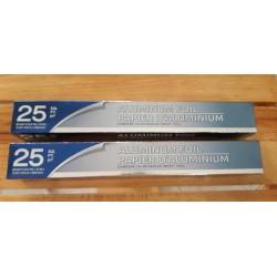 Papel aluminio de 25 mts