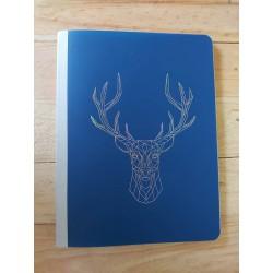 Cuaderno azul con figura...